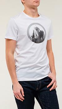 Мужская футболка Bogner белого цвета с принтом, фото