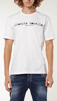 Мужская футболка Frankie Morello с лого, фото