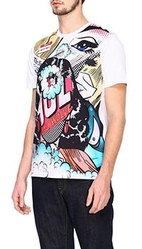 Белая футболка Frankie Morello с принтом , фото