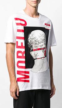 Мужская футболка Frankie Morello с принтом белого цвета, фото
