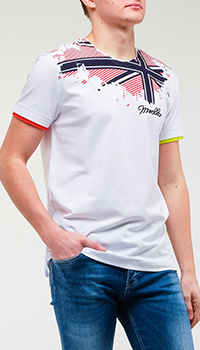 Хлопковая футболка Frankie Morello с принтом, фото