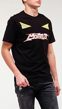 Черная футболка Frankie Morello из хлопка, фото