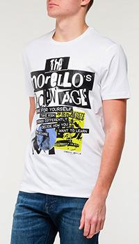 Мужская футболка Frankie Morello с принтом в белом цвете, фото