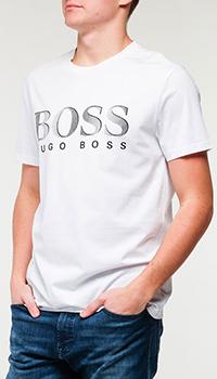 Футболка Hugo Boss с брендовым лого, фото
