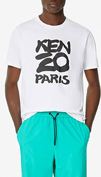 Белая футболка Kenzo с надписью, фото