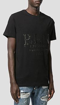 Хлопковая футболка Philipp Plein P.L.N. с принтом, фото