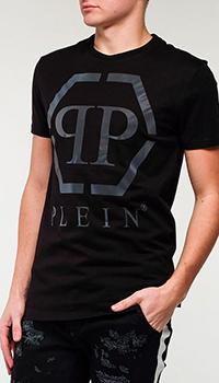 Черная футболка Philipp Plein с лого, фото