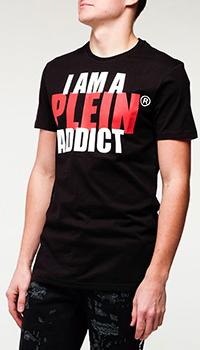 Мужская футболка Philipp Plein с надписью, фото