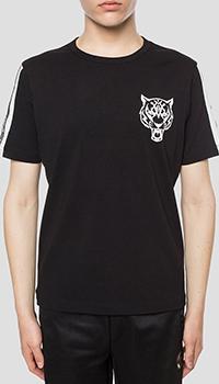 Черная футболка Philipp Plein с белым принтом, фото