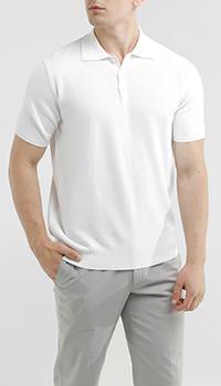 Белое поло Della Ciana с узорной текстурой, фото