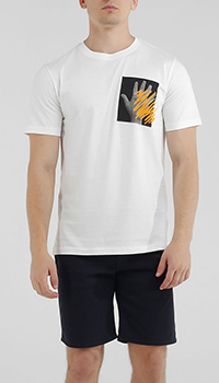 Белая футболка Paul Smith с принтом, фото