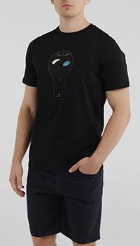 Футболка Paul Smith с принтом черного цвета, фото