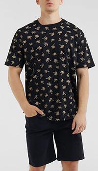 Черная футболка Paul Smith с принтом-пальмами, фото