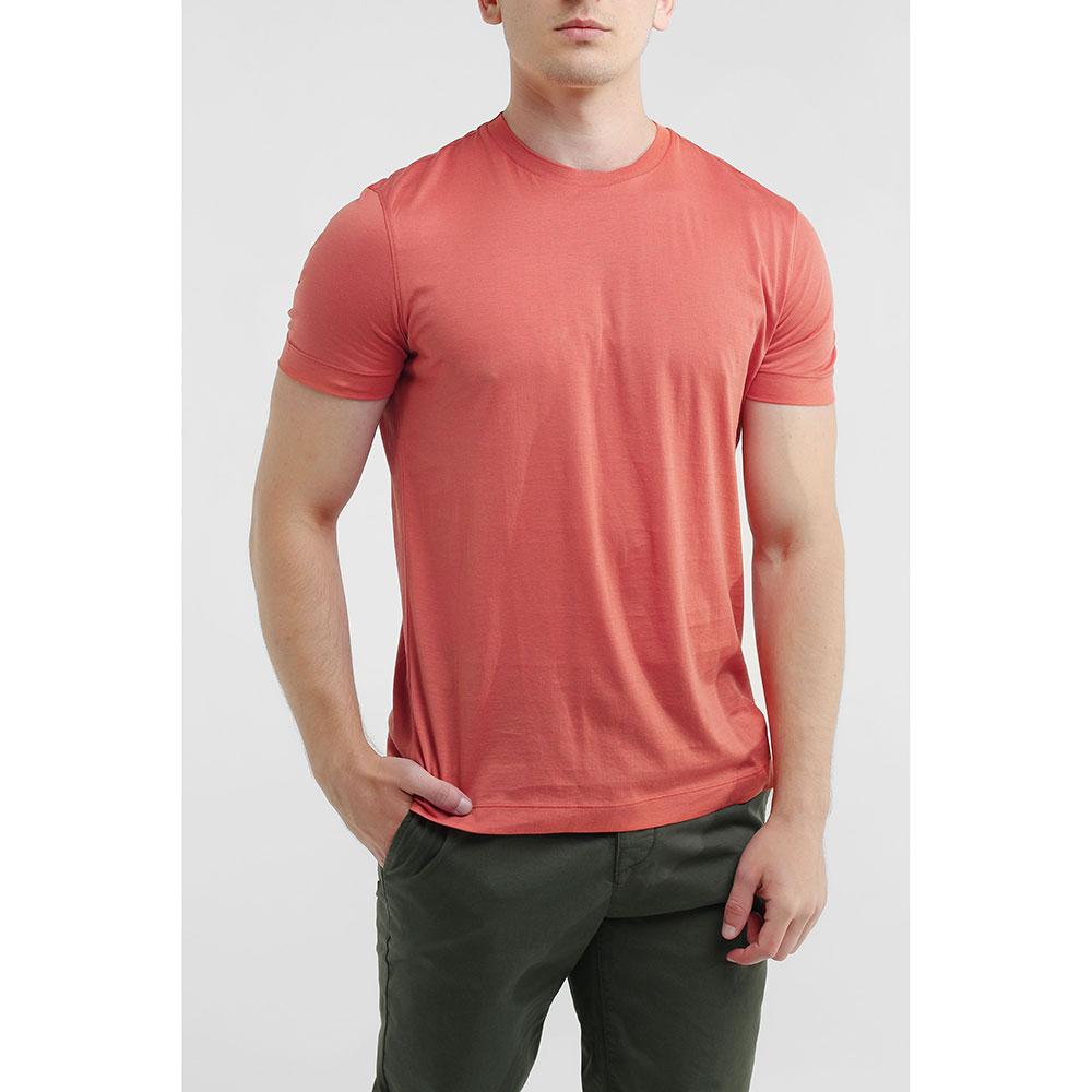 Оранжевая футболка Della Ciana однотонная