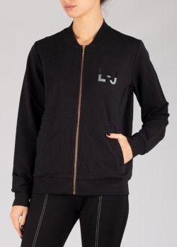 Черная спортивная кофта Liu Jo с логотипом, фото