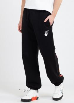Черные брюки Off-White с цветными полосками, фото