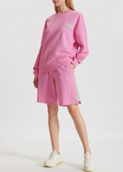 Розовый костюм Comme des Fuckdown с шортами, фото