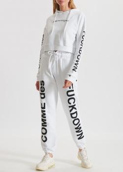 Белый костюм Comme des Fuckdown с капюшоном, фото
