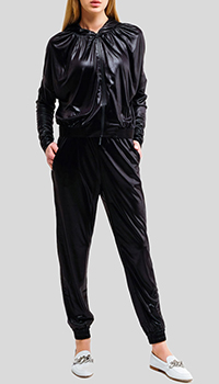 Черный спортивный костюм Pinko с капюшоном, фото