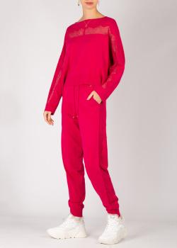 Трикотажный костюм Twin-Set красного цвета, фото