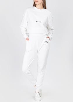 Хлопковый костюм Karl Lagerfeld белого цвета, фото