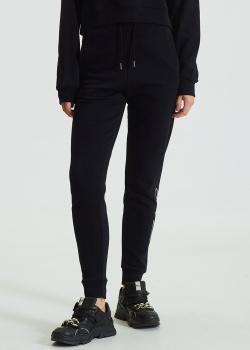 Утепленные брюки Karl Lagerfeld Signature с логотипом из страз, фото
