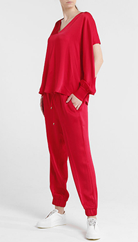 Красный костюм Twin-Set с разрезами на рукавах, фото