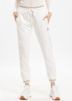 Белые спортивные штаны Patrizia Pepe с манжетами, фото
