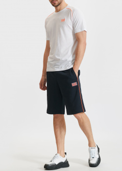 Спортивный костюм EA7 Emporio Armani из шорт и футболки, фото