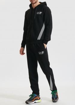 Мужской спортивный костюм EA7 Emporio Armani черного цвета, фото