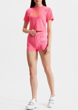Розовый костюм EA7 Emporio Armani футболка с шортами, фото