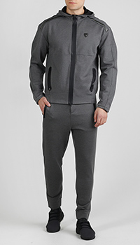 Спортивный костюм Ea7 Emporio Armani серого цвета, фото