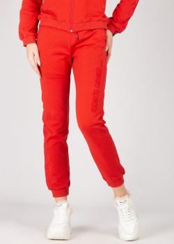 Красные спортивные штаны Roberto Cavalli на резинке, фото