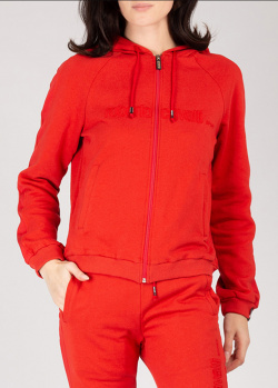 Красная спортивная кофта Roberto Cavalli с капюшоном, фото