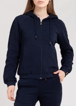 Спортивная кофта Roberto Cavalli Sport синего цвета, фото