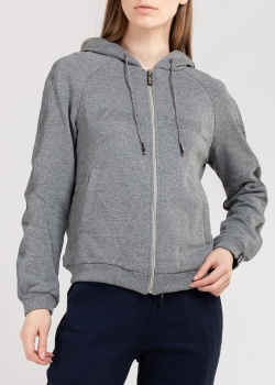 Спортивная кофта Roberto Cavalli Sport с фирменной вышивкой, фото