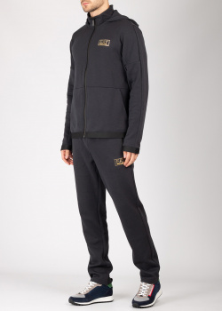 Спортивный костюм EA7 Emporio Armani темно-синего цвета, фото