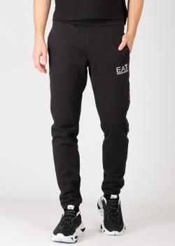 Спортивные брюки Ea7 Emporio Armani с брендовыми лампасами, фото