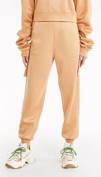 Спортивные брюки Patrizia Pepe бежевого цвета, фото