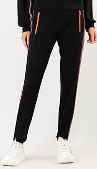 Черные спортивные штаны Patrizia Pepe с лампасами, фото