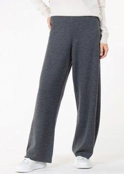Трикотажные брюки Allude серого цвета, фото