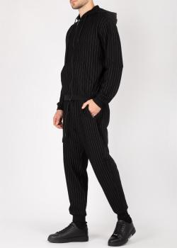 Черный спортивный костюм Bikkembergs в полоску, фото