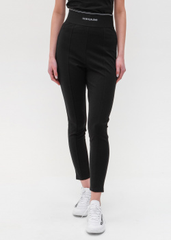 Черные леггинсы Calvin Klein с широкой резинкой, фото