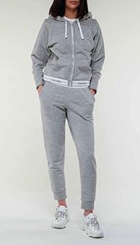 Серый спортивный костюм Calvin Klein с логотипом, фото