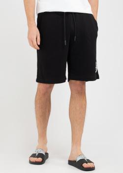 Черные спортивные шорты Marcelo Burlon с логотипом, фото