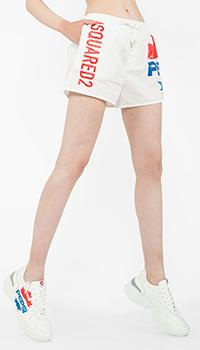 Белые шорты Dsquared2 с принтом Pepsi, фото