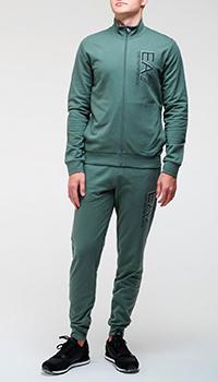 Спортивный костюм Ea7 Emporio Armani в зеленом цвете, фото