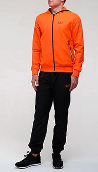 Спортивный костюм Ea7 Emporio Armani с оранжевым верхом, фото