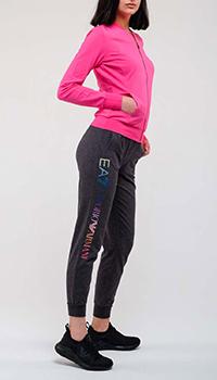Спортивный костюм Ea7 Emporio Armani с розовым верхом, фото