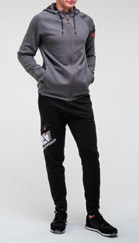Спортивный костюм Ea7 Emporio Armani с брендовым принтом, фото